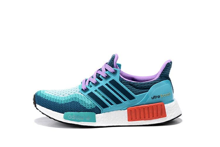 Adidas NMD Ultra Boost 休閒跑鞋 藍綠色 女款