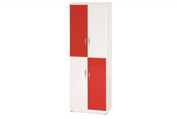 石川家居:【石川家居】886-02(紅白色)鞋櫃(CT-329)#訂製預購款式#環保塑鋼P無毒防霉易清潔