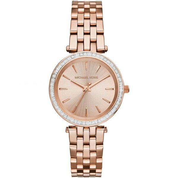 Outlet正品代購 Michael Kors MK 玫瑰金 水鑽 33MM 三針計時 手錶 腕錶 MK3366