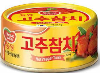 【韓新館】DONGWON 韓國鮪魚罐頭(辣味)★1月限定全店699宅配免運