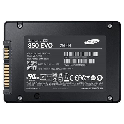 "Samsung SSD 850 EVO 250GB 250G SATA III 2.5"" 3D V-NAND Internal Solid State Drive MZ-75E250B 3"