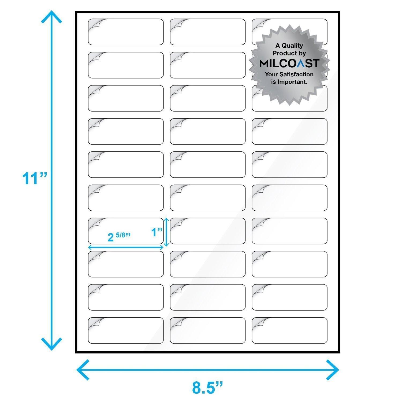 ezl direct milcoast glossy address labels 30 per sheet 1 x 2 5 8