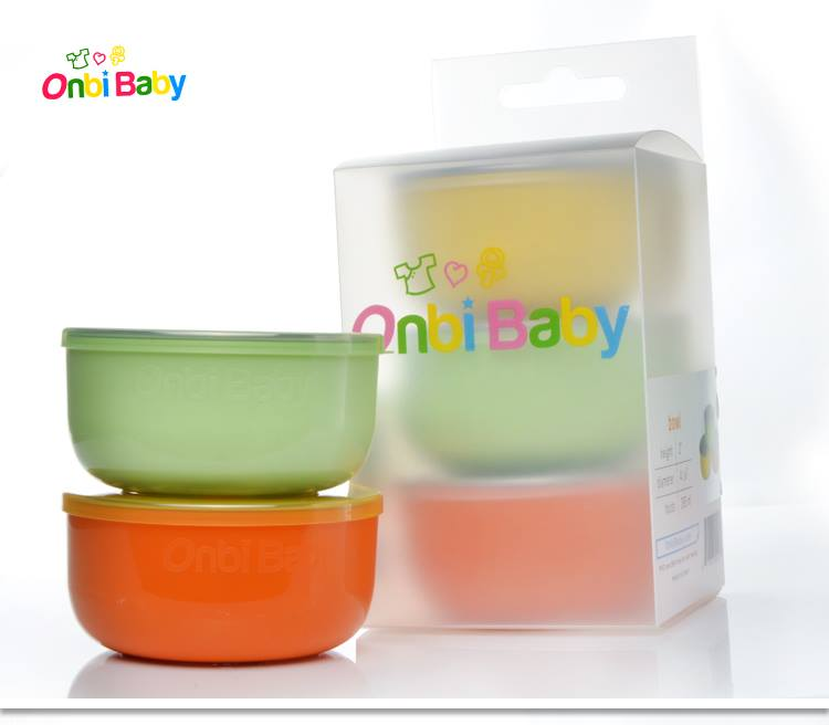 """美國 Onbi Baby 歐比寶貝 不鏽鋼餐碗 三色碗 幼稚園碗 """"沒有""""附不鏽鋼湯匙 *夏日微風*"""