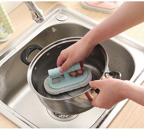 ✤宜家✤廚房清潔去汙洗鍋刷 洗碗刷 清潔刷 (顏色隨機出貨)
