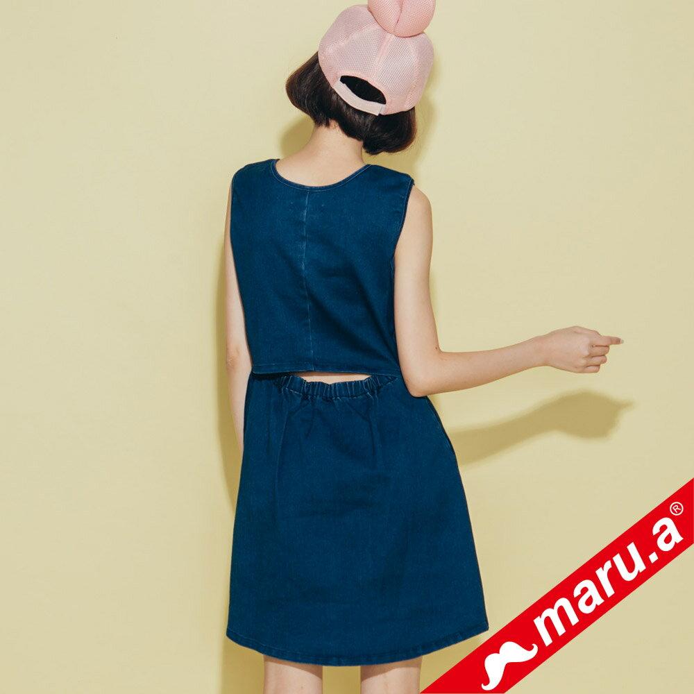 【maru.a】小飛象文字刺繡牛仔單寧洋裝(2色)8317117 5