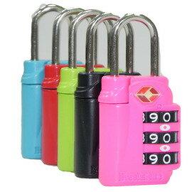 旅遊用品 三碼式行李鎖1組(顏色隨機) 0