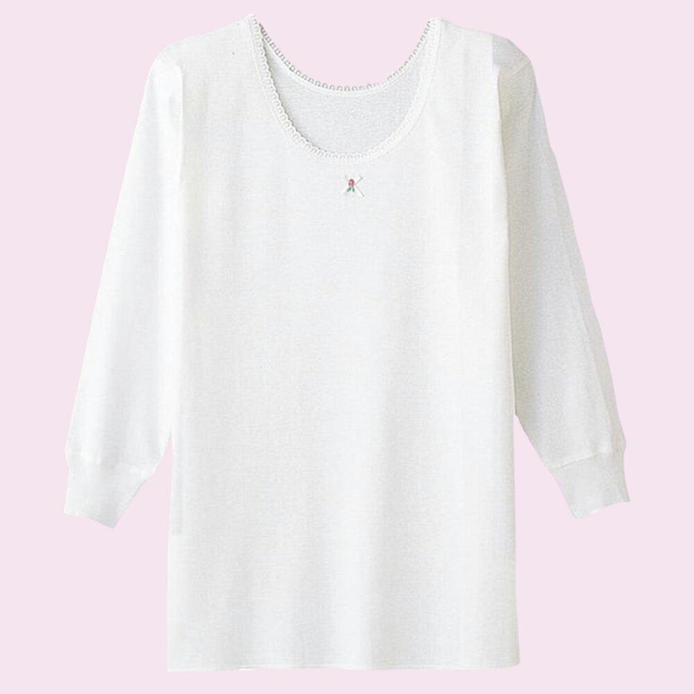 【Gunze郡是】原裝進口-兒童100%純棉女童長袖(100cm~160cm) 1