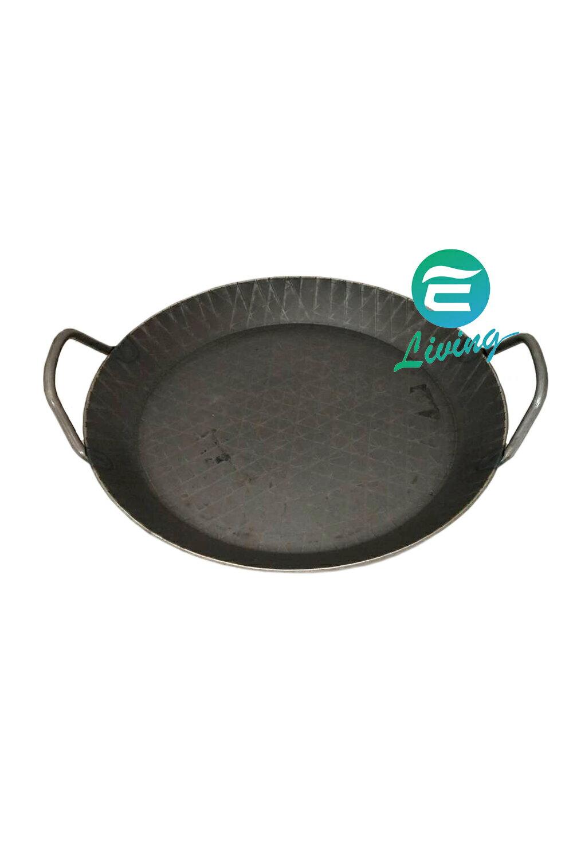 Turk 雙耳鍛鐵格紋淺鍋 淺款(熱鍛) 鐵鍋 (24cm/28cm)