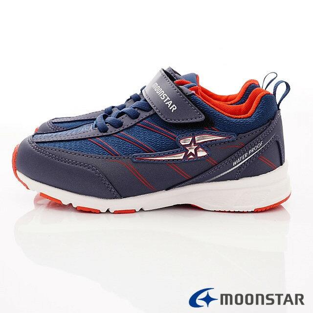 日本Moonstar機能童鞋 防水系列運動鞋 9295深藍(中大童段) 2