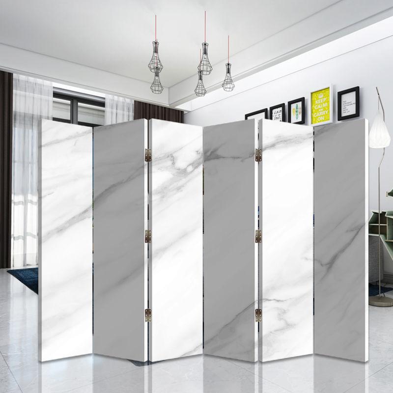 屏風隔斷客廳臥室遮擋家用簡約現代雙面折疊移動玄關白色畫室直播pd