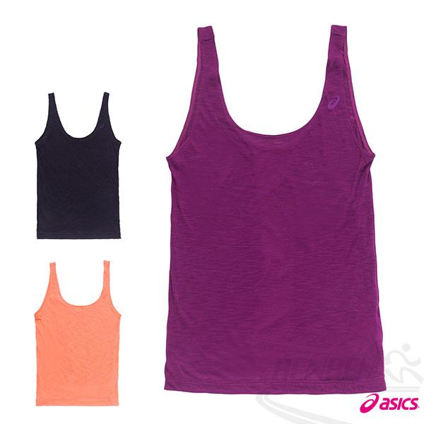 ASICS亞瑟士女運動背心(紫)柔軟輕薄樣式