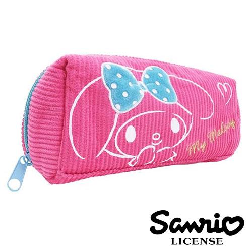 【  】美樂蒂 My Melody 燈芯絨 立體 筆袋 鉛筆盒 三麗鷗 Sanrio - 418540
