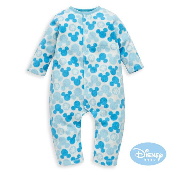 DisneyBaby米奇雪花圓點連身裝-中藍
