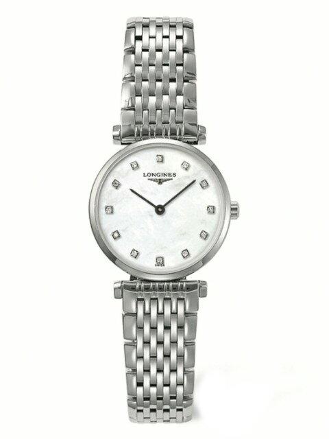 LONGINES L42094876嘉嵐石英超薄優雅真鑽腕錶/珍珠貝面24mm
