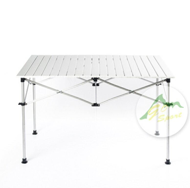 【露營趣】中和 GO SPORT 92348 六人鋁捲桌 二段高低 蛋捲桌 休閒桌 摺疊桌 燒烤桌 茶几