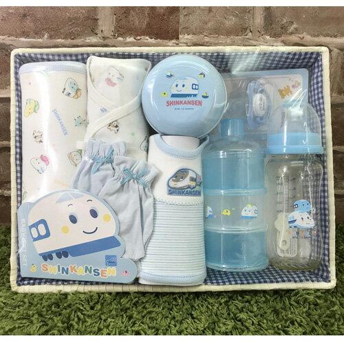 【真愛日本】17062900016 新生兒禮盒-四季SS 三麗鷗 藍色新幹線 彌月禮盒 奶瓶奶嘴 男寶寶嬰幼兒用品
