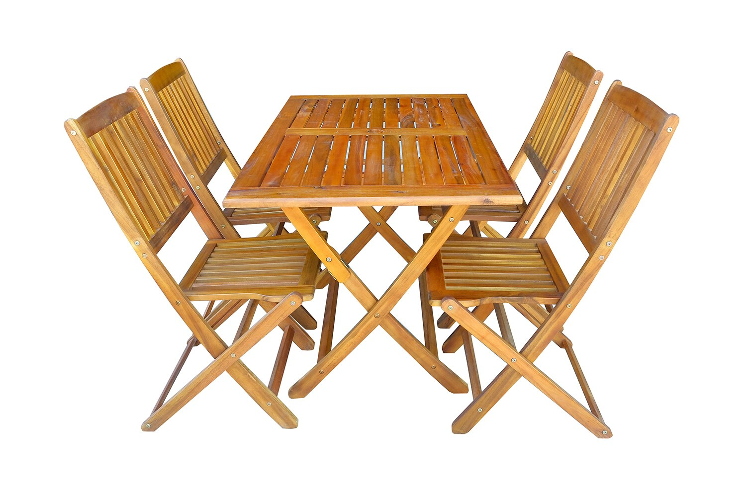 mcombo: Mcombo 5-piece Wood Outdoor Bistro Fold Chair and Store ...