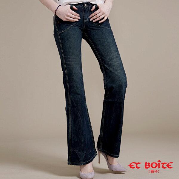 【均一價990】袋蓋優雅靴型寬褲-BLUEWAYETBOiTE箱子