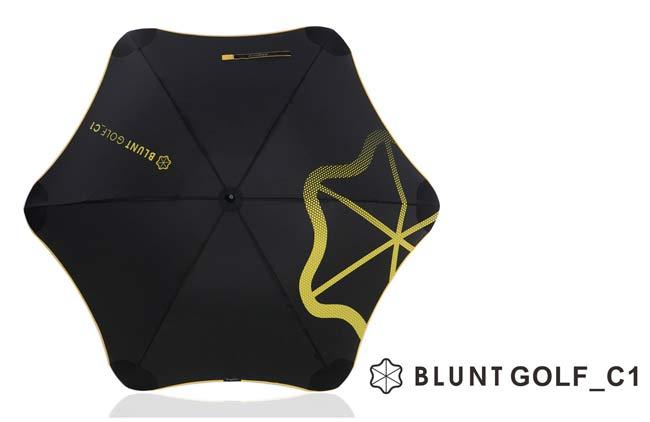 [ BLUNT ] GOLD_C1 保蘭特抗強風 超輕量高爾夫球傘 (碳纖維骨架) 糖果黃
