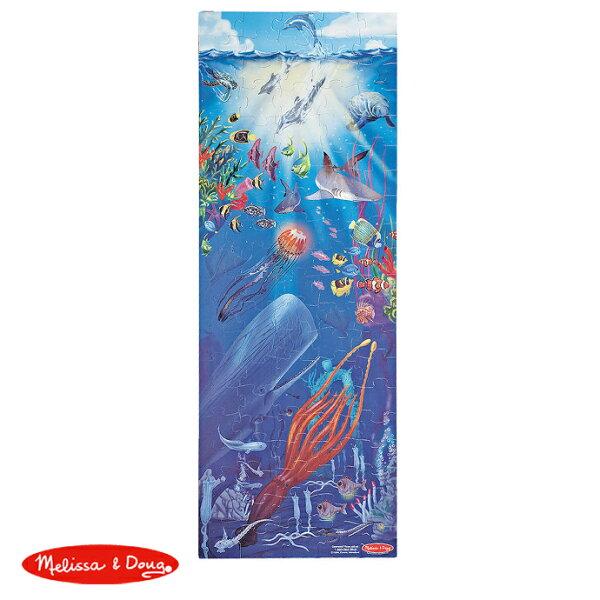 【華森葳兒童教玩具】拼圖教具系列-Melissa&Doug地板拼圖-深海世界N7-0443