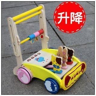 日單木製手推學步車