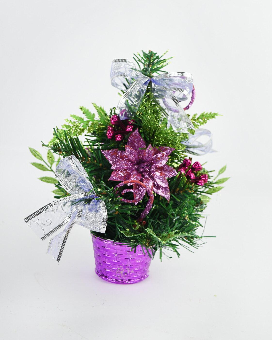 X射線【X454059】20cm裝飾聖誕樹(紫),聖誕樹/聖誕佈置/聖誕燈/會場佈置/材料包/成品樹/小樹