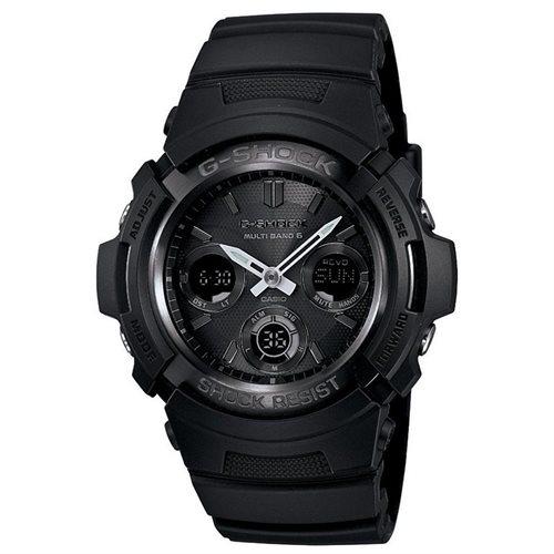 Casio G-Shock Blackout Solar Atomic Watch AWGM100B-1A