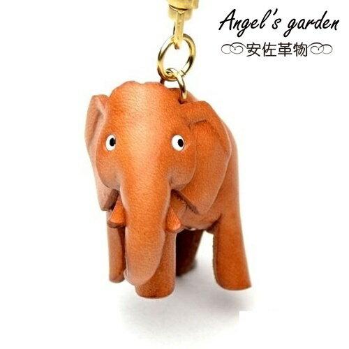 【安佐革物】 日本真牛皮 手工大吊飾禮物 鑰匙圈 大象【Angel's garden 】 56144 Elephant