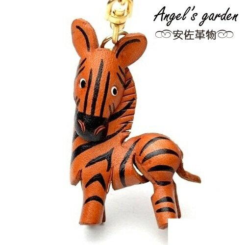~安佐革物~ 真牛皮 大吊飾 鑰匙圈 斑馬~Angel #x27 s garden ~ 5