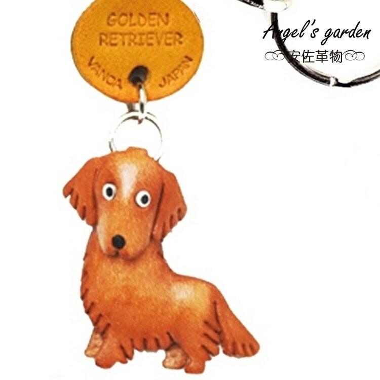 【安佐革物】黃金獵犬 日本真牛皮 手工小吊飾禮物 鑰匙圈 黃金獵犬【Angel\