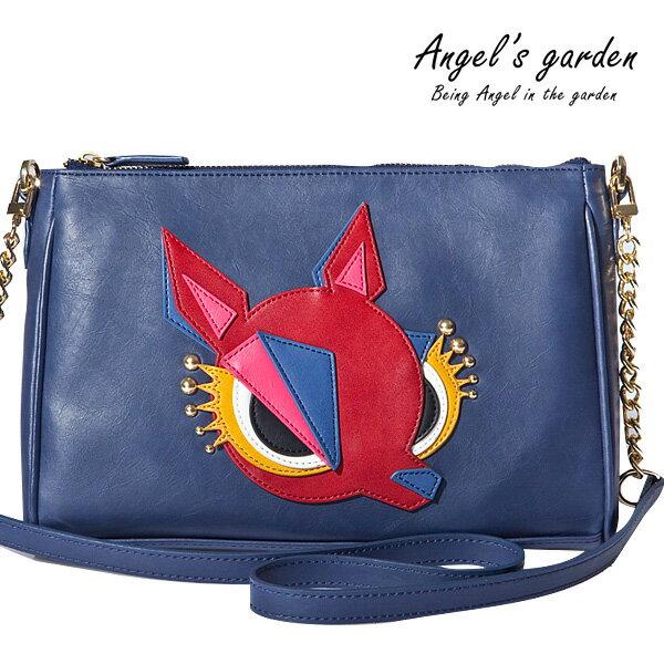 Angel's garden邪惡小鹿系列 海軍藍 肩斜背 小書包 AG1517944NAV