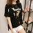 糖衣子輕鬆購【HY1748】韓版時尚百搭寬鬆小鹿印花T恤長版上衣 - 限時優惠好康折扣