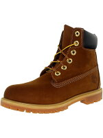 Timberland Women's 6 Inch Premium Boot Leather Rust Brown High-Top