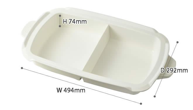 日本直送 含運 / 代購-日本BRUNO / BOE026 / 陶瓷鍋 / 多功能鑄鐵電烤盤專用(4-5人份量) 1