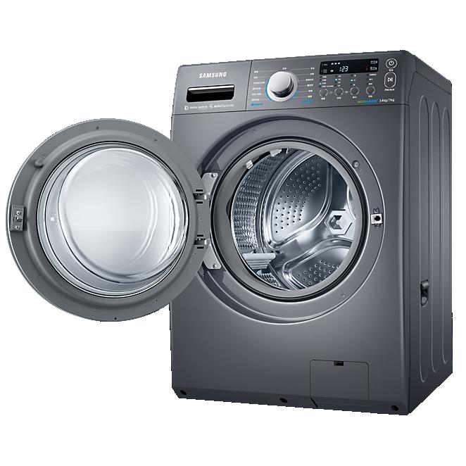 Samsung 三星 WD14F5K5ASG/TW 14KG 滾筒式洗衣機 雙效威力淨系列 (靛藍黑)
