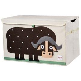 【淘氣寶寶】加拿大 3 Sprouts 大型玩具收納箱-小水牛【超大容量造型玩具箱,可摺疊收納,加蓋防塵】【保證公司貨●品質保證】