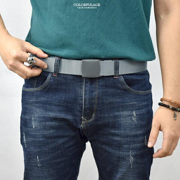 皮帶 日系銀灰色塑膠壓扣腰帶  出國專用【NK151】