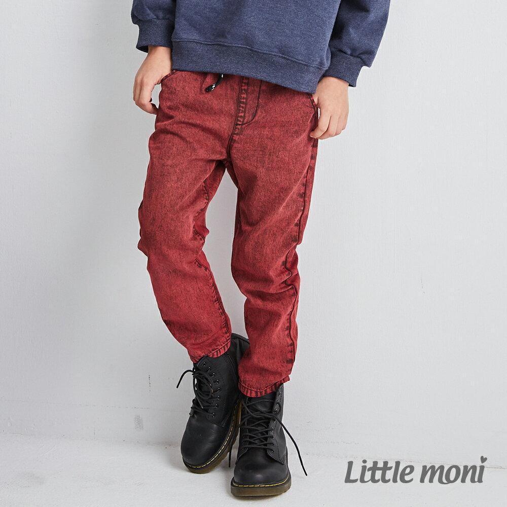 Little moni 牛仔水洗長褲-紅色 1