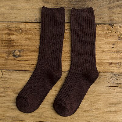 網紅款堆堆襪女日系秋冬襪子純棉款女士襪子純色學院風百搭中筒襪 2