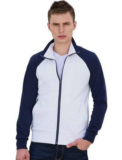 Unique Bargains Men's Long Sleeves Color Block Collar Zipper Front Raglan Varsity Jacket affe38df6377fc412426d06dfdb328f7