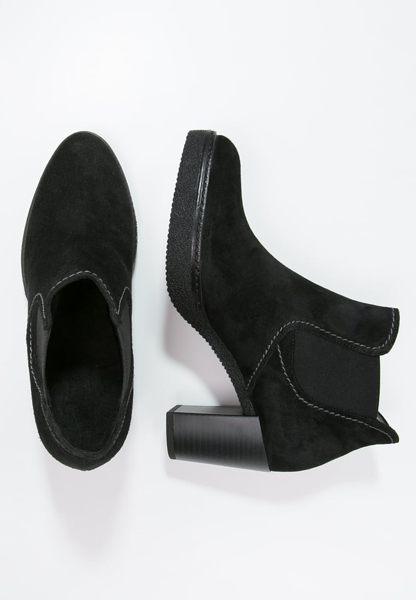 Gabor 縫紋交露踝時尚跟靴 黑 粗跟│中跟│寬楦│皮革 5