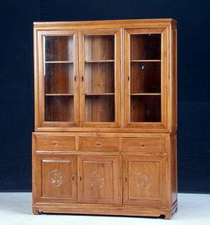 【石川家居】KL-77柚木5尺中式牡丹書櫃收納櫃展示櫃台中以北搭配車趟免運費