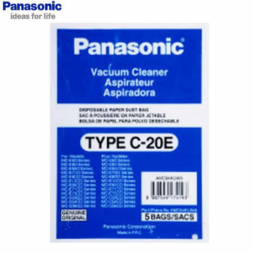 Panasonic 國際 集塵紙袋 TYPE-C-20E/TYPE C-20E 吸塵器專用集塵紙袋 5入