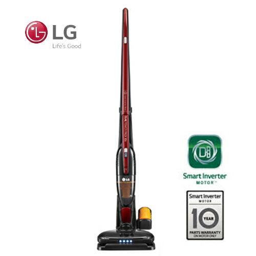 LG 樂金  直立式無線吸塵器 VS8401SCW 智慧變頻馬達 (亮麗紅) 買就送西華雪平鍋