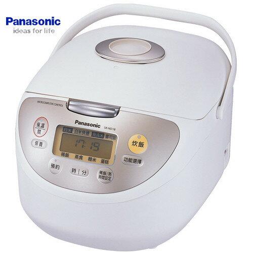 Panasonic 國際 SR~ND10 電子鍋 6人份 鑽石微粒備長炭內鍋 ~  好康折