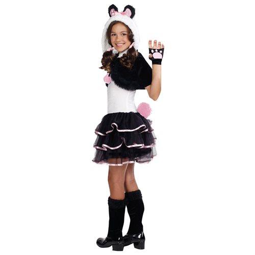 Kids Panda Dress Outfit Girls Animal Halloween Costume 2