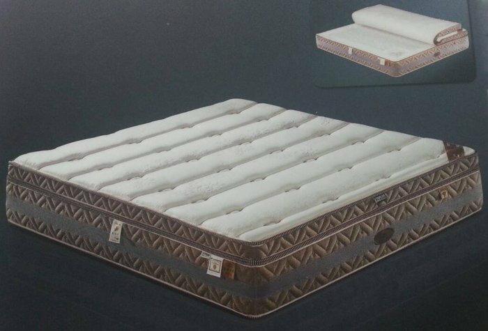 【尚品傢俱】367-03 象牙海岸 5尺長纖乳膠環保咖啡炭纖維獨立筒床墊~另有3.5尺、6尺床墊/趴睡墊/躺臥墊