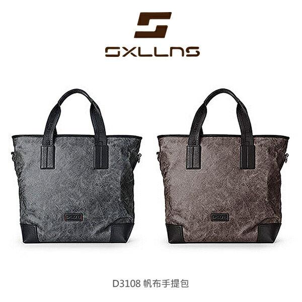 【愛瘋潮】SXLLNS 賽倫斯 D3108 時尚型男 帆布手提包 大容量 公事包 可側背