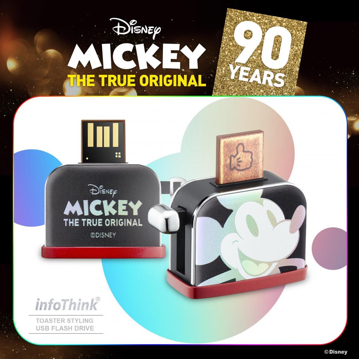 迪士尼90週年米奇系列烤吐司機造型隨身碟USB 16GB / 32GB (幻彩鐳射 / 聖誕金 /  聖誕銀) 隨身碟 1