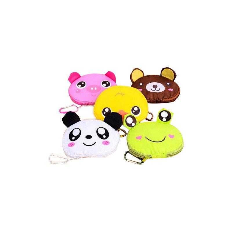 【香草花園】韓版可愛動物造型零錢袋/購物袋